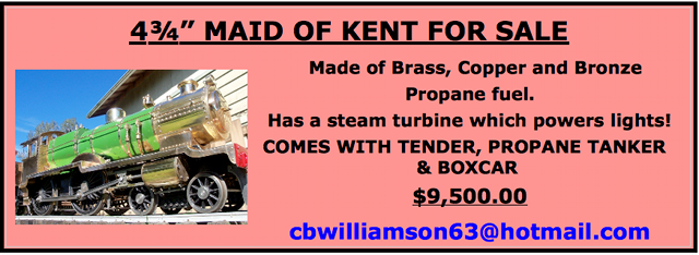 'Maid of Kent' locomotive for sale notice