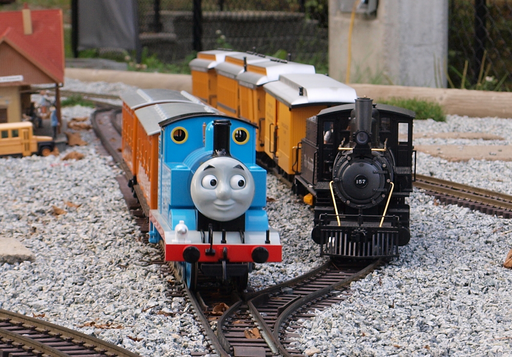 Thomas the Tank Engine visits the Burnaby Railway!